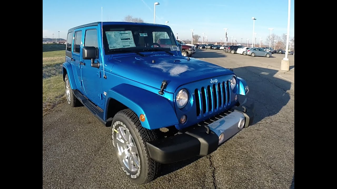 2015 Jeep Wrangler Unlimited Sahara Blue Hardtop