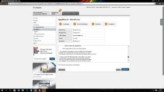 T001 Wordpress Installation per AppWizard in 5min!