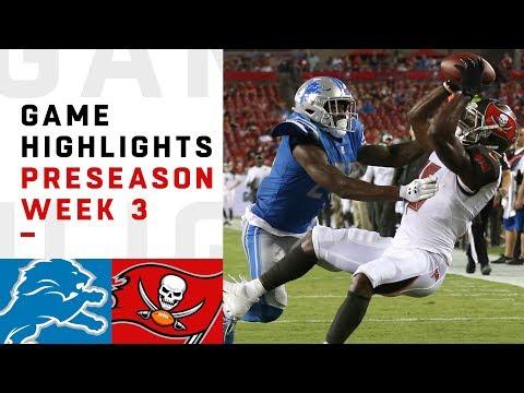 Lions vs. Buccaneers Highlights | NFL 2018 Preseason Week 3