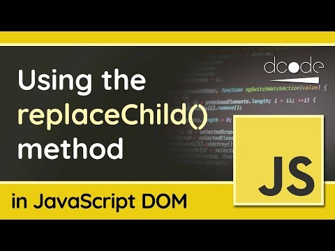Replace child elements with replaceChild() - JavaScript DOM Tutorial thumbnail