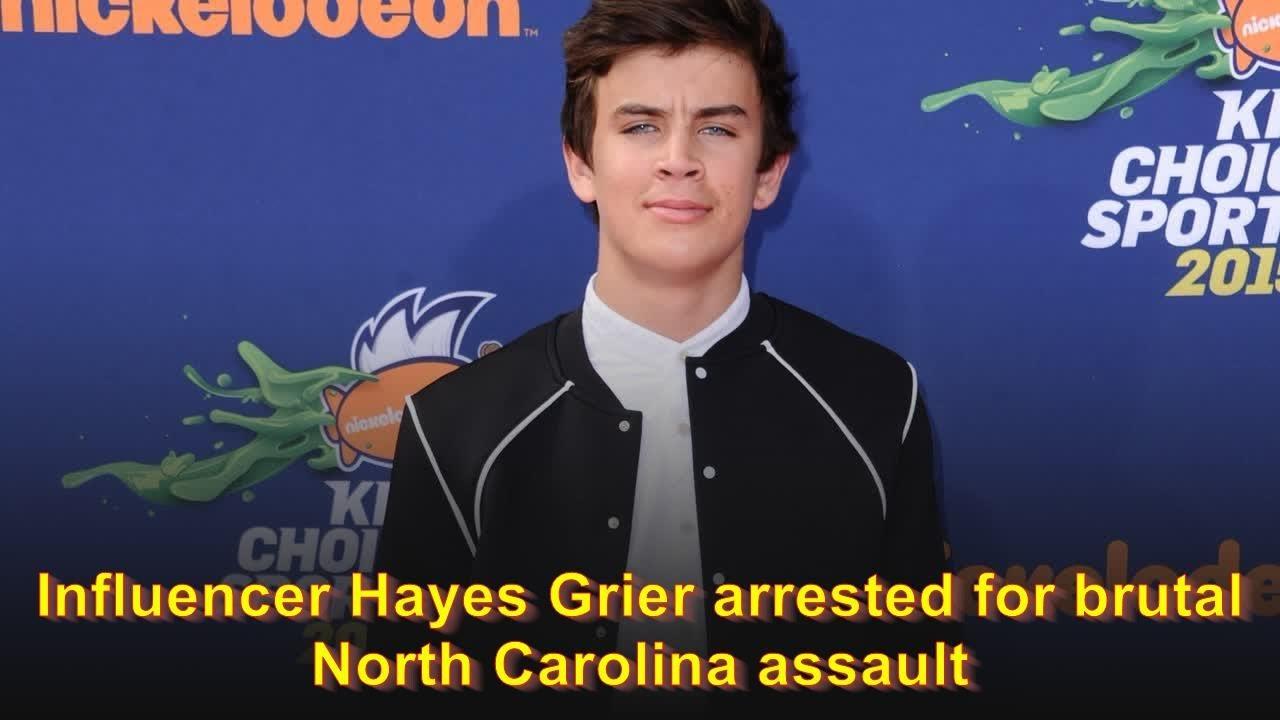 Influencer Hayes Grier arrested for brutal North Carolina assault