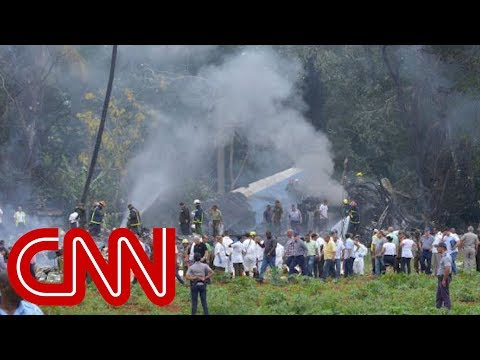 Video shows plume of smoke from plane crash