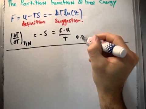Quantum Statistics 37 : Partition Function and Free Energy - YouTube