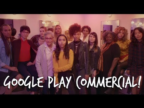 I DID A GOOGLE PLAY COMMERCIAL!