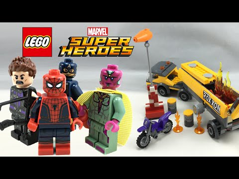 LEGO Captain America Civil War Tanker Truck Takedown review! 76067!