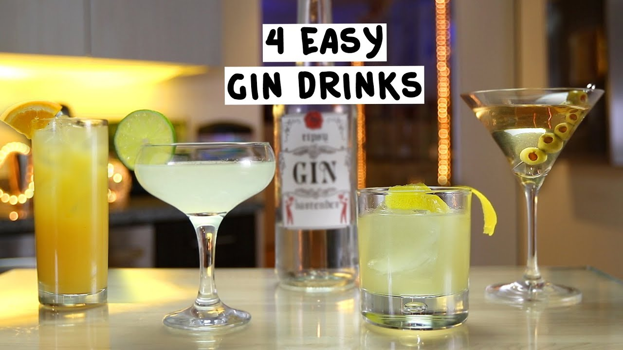 Drink Gin Four Easy Gin Drinks
