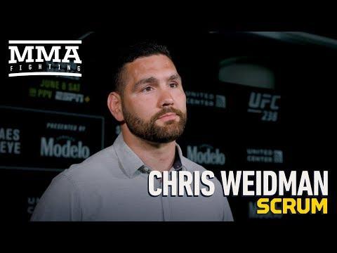 UFC 238: Chris Weidman Talks Move to 205, Previous Goal to Set Up Jon Jones Superfight