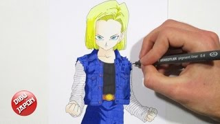How to draw Android 18 (A-18) / Cómo dibujar a Androide 18 (C-18) [Dragon Ball Z]