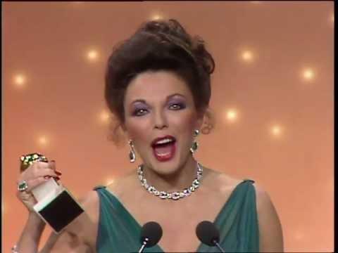 Joan Collins Wins Best Actress TV Series Drama - Golden Globes 1983