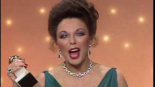 Joan Collins Wins Best Actress TV Series Drama - Golden Globes 1983