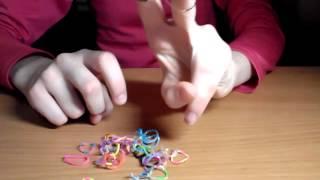 """Видео урок 1 """"LOOM BANDS """" плетение для начинающих"""