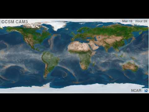 CCSM CAM3 T341 water vapor and Precipitation Simulation