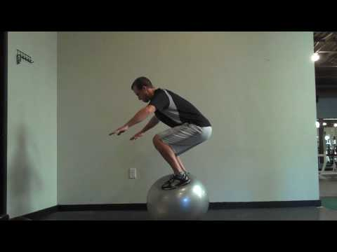 How to Stand on a Stability Ball - Standing on Swiss Ball