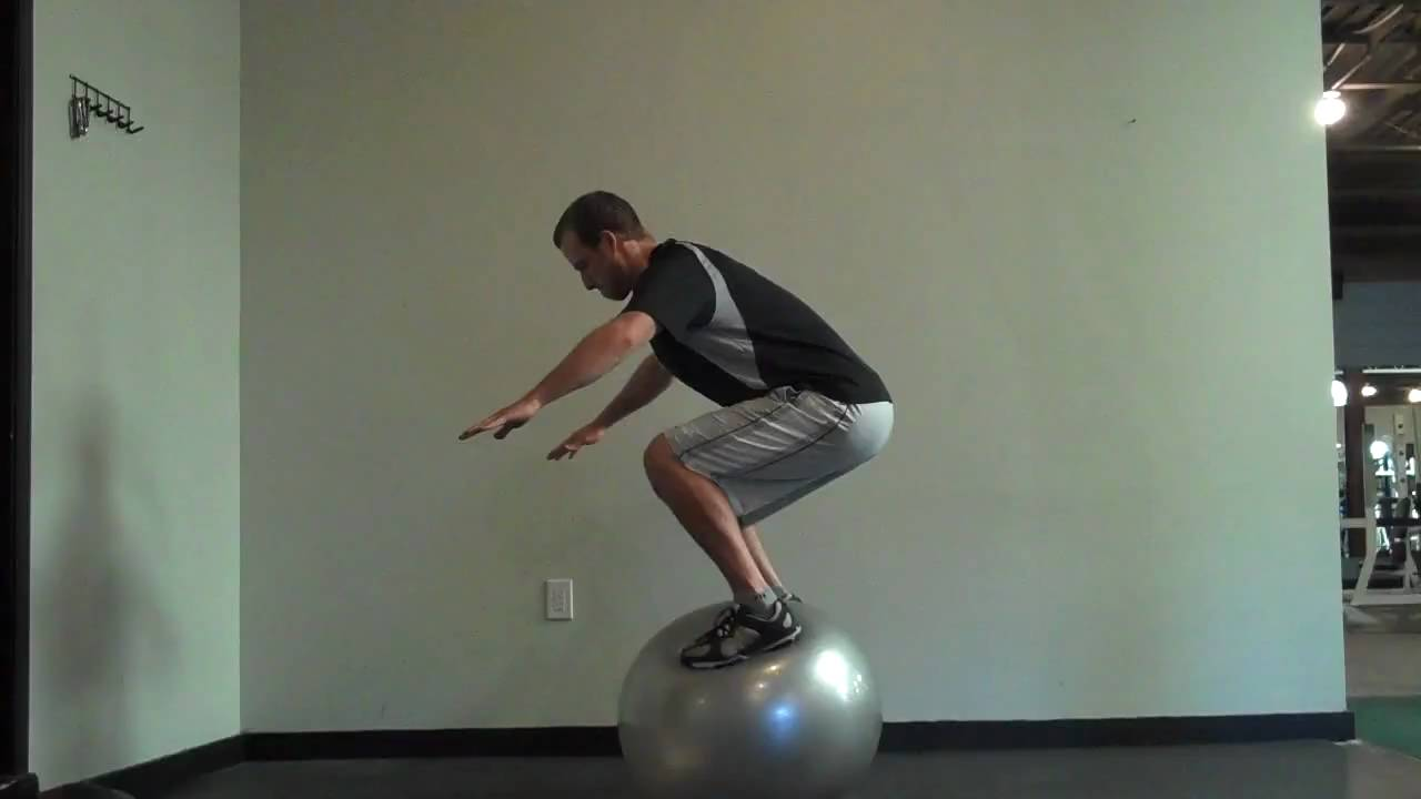 How To Stand On A Stability Ball Standing On Swiss Ball