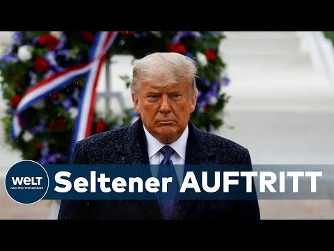 WELT THEMA: US-Präsident steht im Regen - Trump lässt Helden in Arlington lange warten
