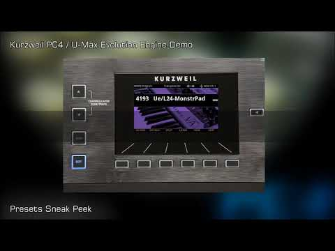 kurzweil PC4 Umax Evolution Presets Sneak Peek