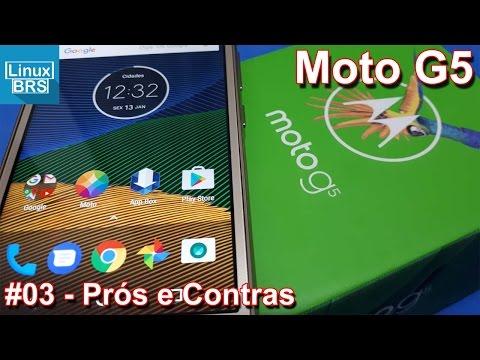 Lenovo Moto G5 - Prós e Contras