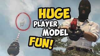 CS:GO - HUGE Playermodel TRICK! (3D Skybox)