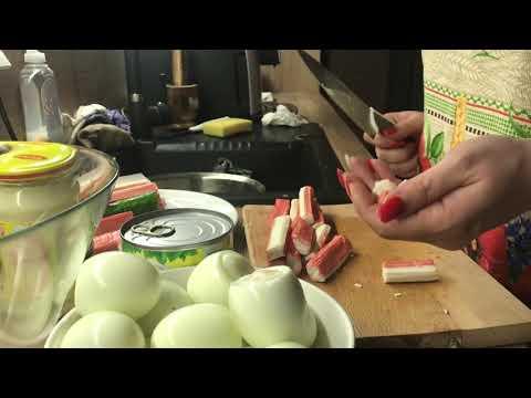 Салат с крабовыми палочками. Тест от свекрови )))