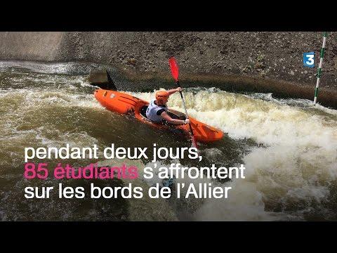 Les championnats de France universitaires de canoë-kayak à Vichy