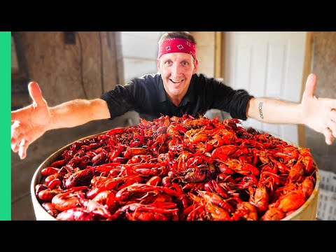Boiling 10,000 Crawfish!!! Epic Louisiana Crawfish Throw Down In Cajun Country!!