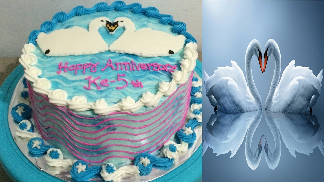 Swan Cake Decorating Buttercream Transfer YouTube