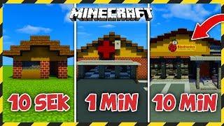 MINECRAFT: Budujemy BIEDRONKE w 10 SEKUND, 1 MINUTĘ i 10 MINUT!