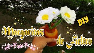 Margaritas de fieltro Moldes Gratis de Mis Flores de Tela DIY Manualidades