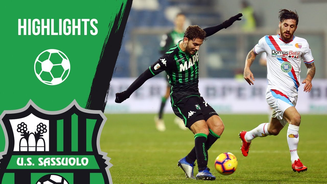 Coppa Italia | Sassuolo-Catania 2-1 Highlights - YouTube