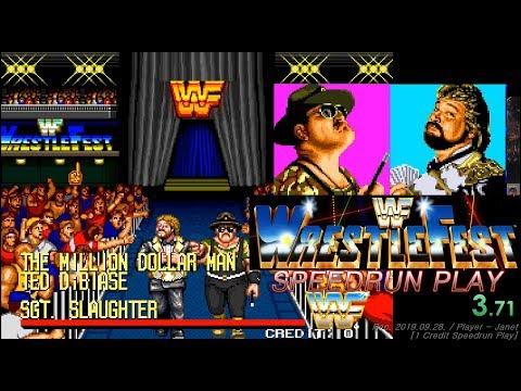 (New PR) WWF Wrestlefest - Speedrun 1 Credit (8:25:20) / WWF 레슬페스트