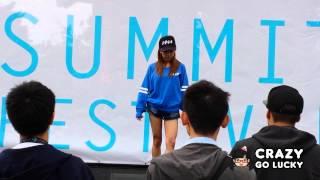 Former AKB48 member Tomomi Itano (板野友美) performing Crush during...