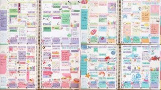 Six Months of Erin Condren Life Planner Layouts!