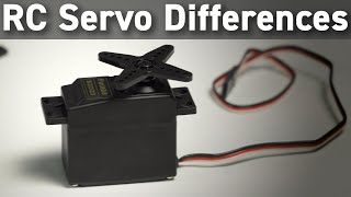 RC Servo Differences & Technologies Compared - Servo Motor Types, Materials & More