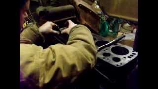 """1921 fordson """"model F"""" valve guide removal, from engine block"""