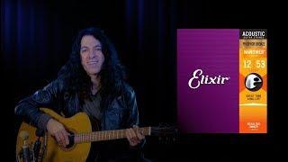 Elixir Phosphor Bronze Acoustic Strings with Nanoweb Coating