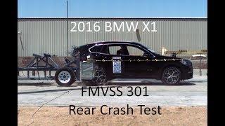 2016-2019 BMW X1 FMVSS 301 Rear Crash Test (50 Mph)