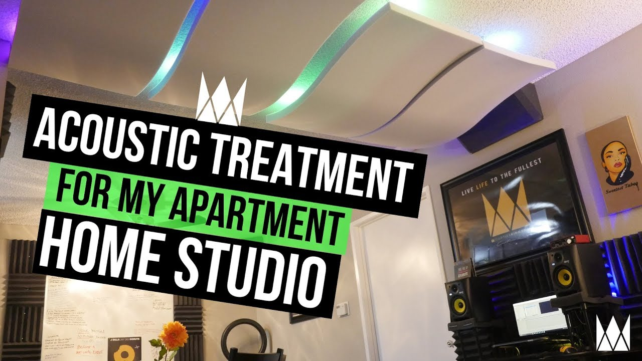 Acoustic Treatment For My Apartment Home Studio | Curtiss King Beats