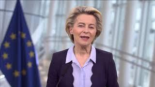 On 30 november 2020, ursula von der leyen, president of the european commission, delivered a message occasion eu health summit which was held v...