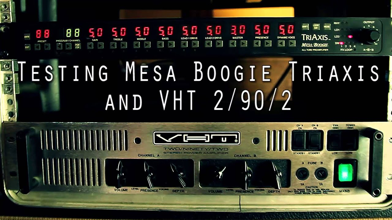 Testing Mesa Boogie Triaxis Preamp Channels