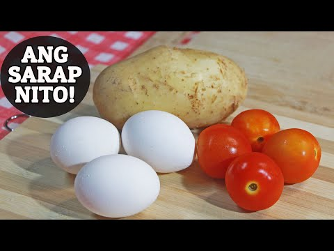 Try this 'EGG, POTATO AND TOMATO' breakfast recipe. Pwede i-ulam sa kanin o i-palaman sa tasty bread