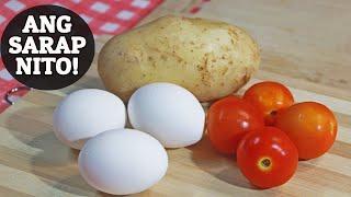Try this &#39EGG, POTATO AND TOMATO&#39 breakfast recipe. Pwede i-ulam sa kanin o i-palaman sa tasty bread