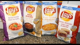 Lay's 2015 Canada Butter Chicken, Cowboy Bbq Beans, P.e.i. Scalloped Potatoes & Montreal Smoked Meat