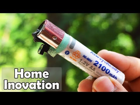 DIY Electric Lighter from Old Gas Lighter and Battery
