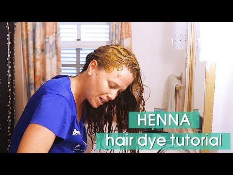 How to Dye Your Hair with Henna - 동영상