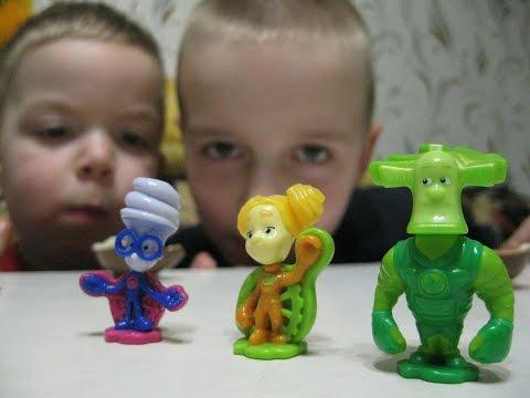 Киндер Сюрприз Фиксики Unboxing Kinder Surprise Fixiki Открываем Киндеры Фиксики