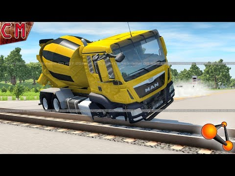 BeamNG Drive How not to cross the rails #4
