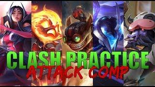 Clash Practice 1: Attack Comp VS Catch Comp