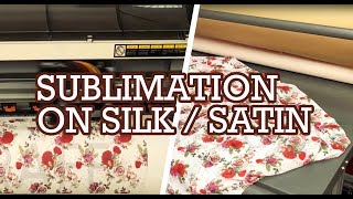Sublimation Printing On Silk / Satin with Calendar Heat Press
