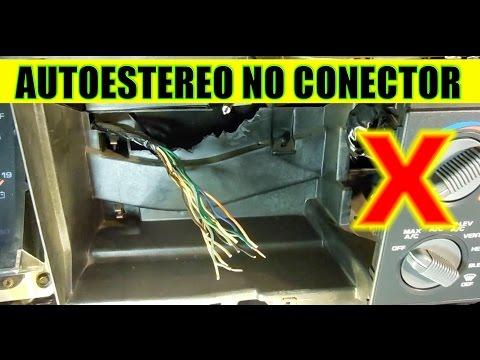 Como conectar un autoestereo sin conector de lado del auto y sin diagrama (de fabrica)