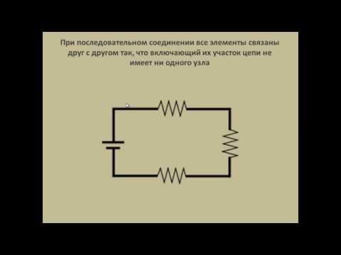 15 Постоянный ток Последовательное и параллельное соединение проводников Закон Ома